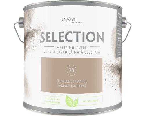 SELECTION StyleColor Muurverf kleur 23 Fluweel der aarde mat 2,5 l