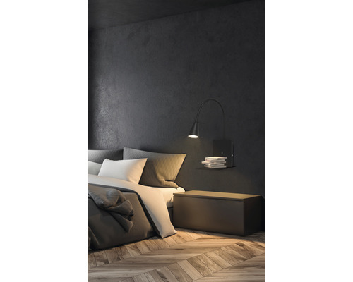 BRILONER LED Wandlamp met plank zwart