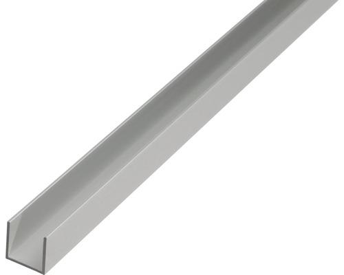 KAISERTHAL U-profiel 10x12x10x1,5 mm aluminium zilver 200 cm
