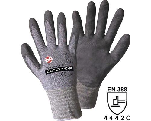 LEIPOLD + DÖHLE Snijbeschermende werkhandschoen Cutexx-C-P grijs, maat 10