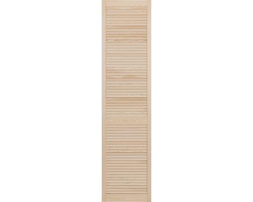 Louvredeur, grenen, open, 242,2 x 49,4 cm