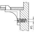DRESSELHAUS Euro-schroef verzonken kop kruis 6,3x9 mm Pozidrive PZ galv. verzinkt, 100 stuks