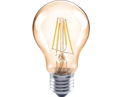 FLAIR LED Filament lamp E27/4W peervorm amber