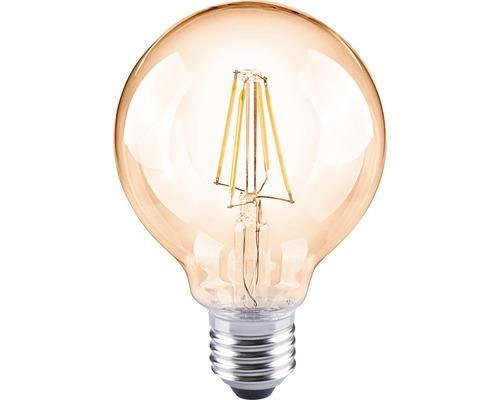 FLAIR LED Filament lamp E27/4W globevorm amber G80