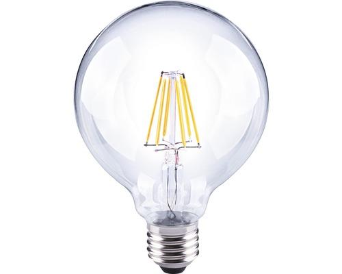 FLAIR LED Filament lamp E27/6W globevorm helder G95