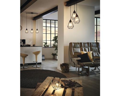 EGLO Hanglamp Tarbes 3-lichts zwart