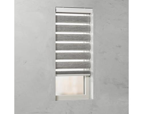 SOLUNA Duo rolgordijn lichtdoorlatend D-R7 grijs 80x175 cm