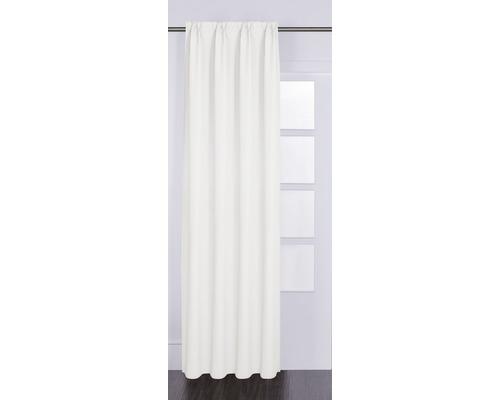SOLEVITO Gordijn met plooiband Canvas wit 140x280 cm
