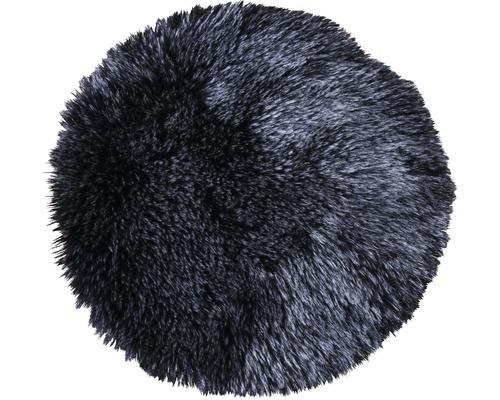 SOLEVITO Zitkussen imitatiebont zwart ø 35 cm