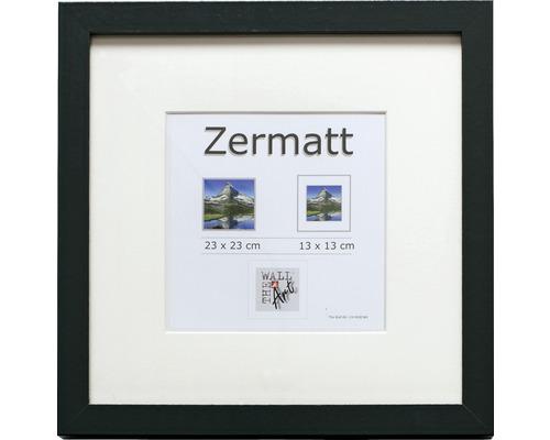 Fotolijst hout Zermatt zwart fotomaat 23x23 cm, buitenmaat 25x25 cm